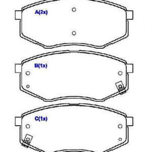 Pastilhas de freio ix35, Sportage