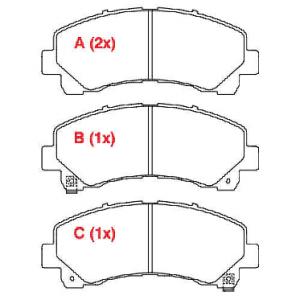 Pastilhas de freio Nova S10