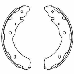 Sapatas de freio L200 Triton, Nova S10