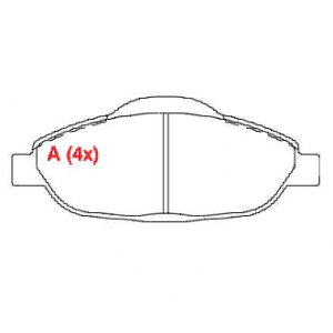 Pastilhas de freio C4 / 308 / 408