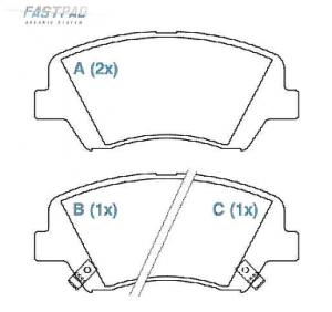 Pastilhas de freio New Cerato, Veloster, HB20 1.6