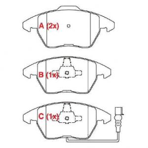 Pastilhas de freio A4 / A5