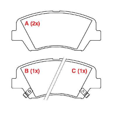 Pastilhas de freio i30, All New Cerato, Elantra, Veloster, HB20 1.6