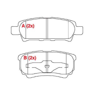 Pastilhas de Freio (traseiras) Airtek / Compass