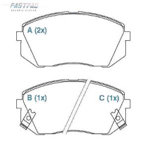 Pastilhas de Freios ix35 / Sportage (cerâmica)