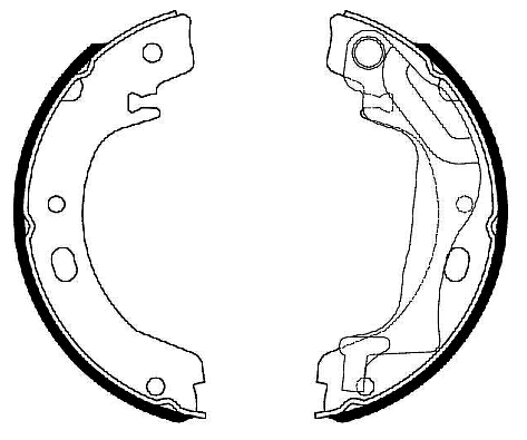 Sapatas do Freio de Estacionamento Corolla / Fielder
