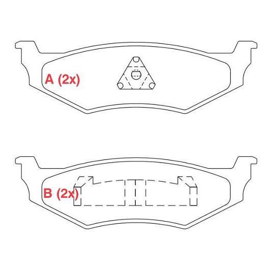 Pastilhas de Freio PT Cruiser (traseiras)
