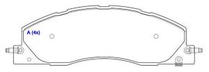 Pastilhas de Freio Ram 2500