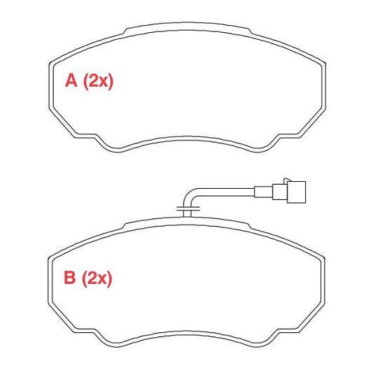 Pastilhas de Freio Ducato / Jumper / Boxer