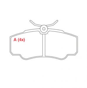 Pastilhas de Freio Ducato / Jumper / Boxer (c/ mola)