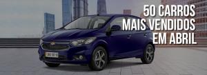50 carros mais vendidos em abril